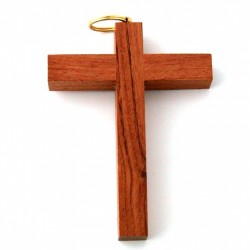 Croix d'Aube en bois foncé 7,5cm