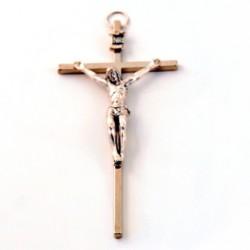 Crucifix métal argenté
