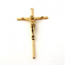 Crucifix métal doré