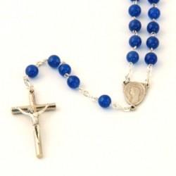 Chapelet agate bleue