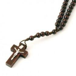 Chapelet bois avec Christ