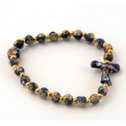Bracelet religieux élastique bleu