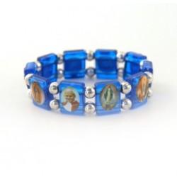 Bracelet religieux de Saints bleu foncé