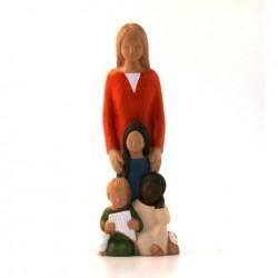 Statue Yves le Pape - Marie du monde
