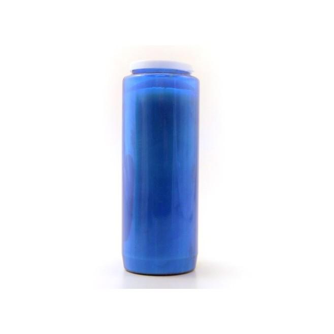 Bougie de neuvaine bleue