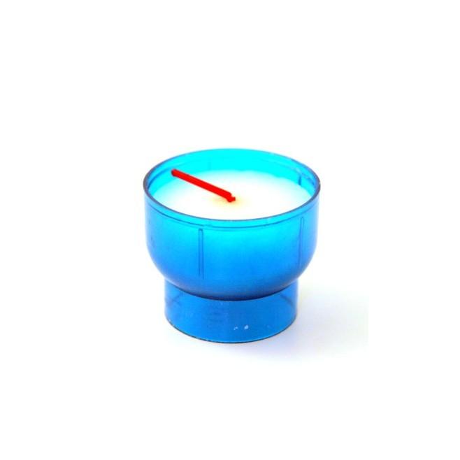 Bougie votive bleue
