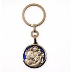 Porte-clés Saint Christophe emaillé