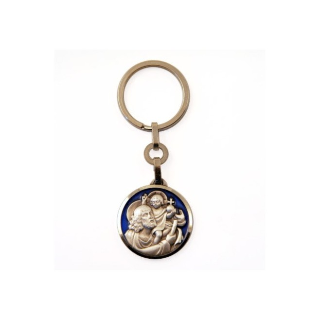 Porte cl s saint christophe emaill comptoir religieux - Fabrication porte clef ...