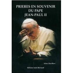 Prières en souvenir de Jean Paul II - éditions St Bernard