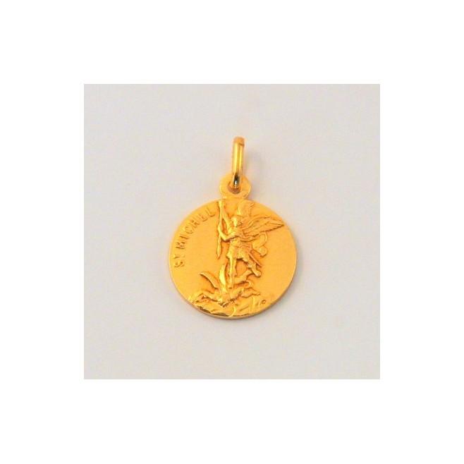 Médaille Saint Michel plaqué Or