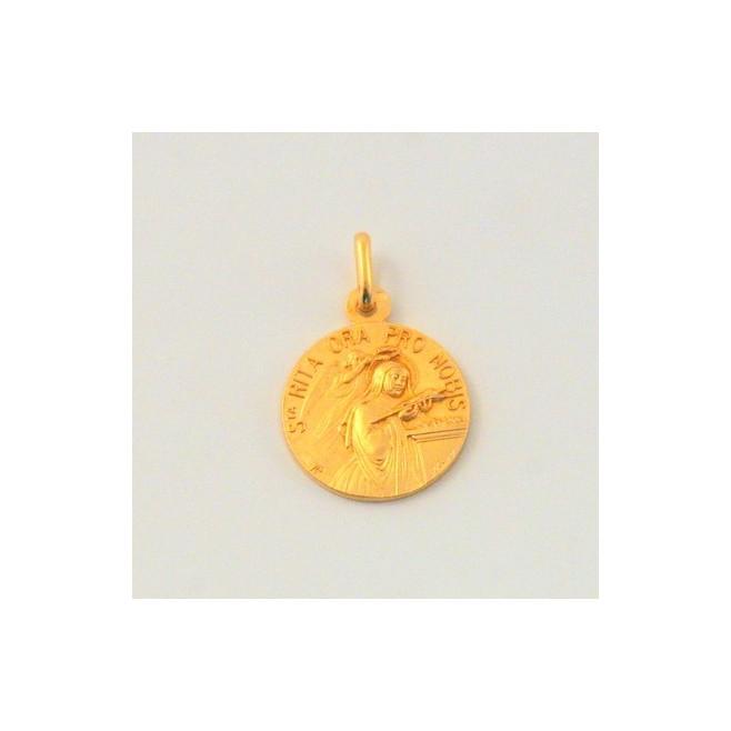 Médaille Sainte Rita plaqué Or
