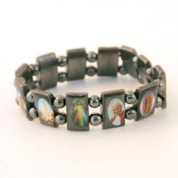 Bracelet religieux des Saints hématite naturelle