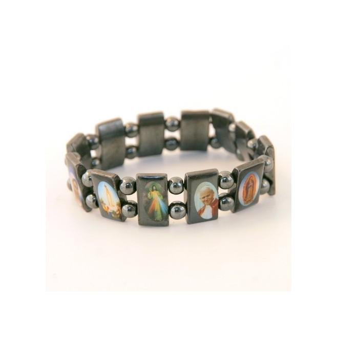 Bracelet de Saints hématite naturelle