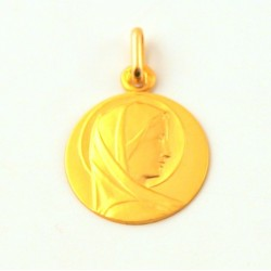"""Médaille baptême """"profil de Vierge"""" - Or"""