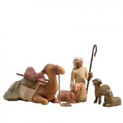 Crèche de Noël Willow Tree - Chamelier, chameau et moutons