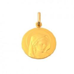 Médaille Vierge en prière - Or