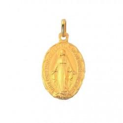 Médaille Vierge Miraculeuse, bord festoné - Or