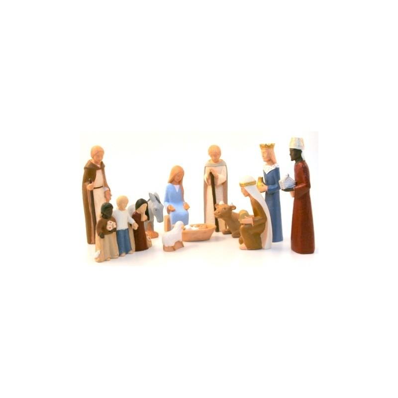 Cr che yves le pape 11 personnages cr che de no l yves le pape le comptoir religieux - Personnage creche de noel ...