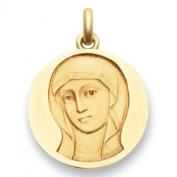 Médaille baptême Vierge Byzantine - Or