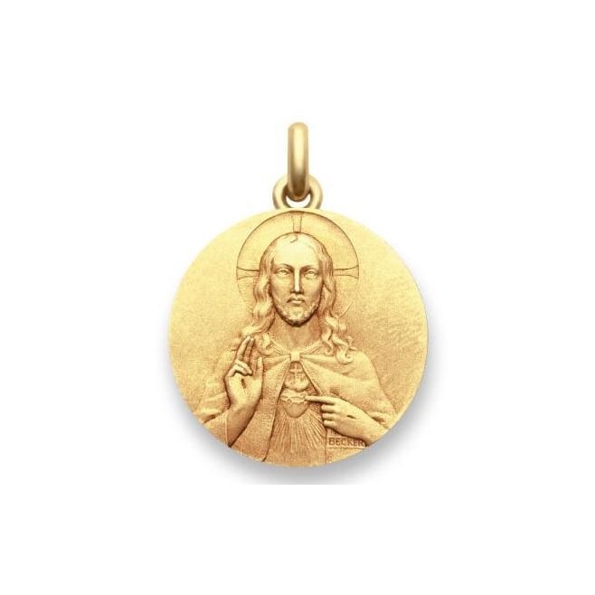 Médaille Sacré Coeur de Jésus - Or