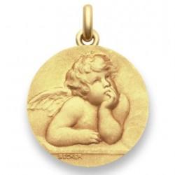 Médaille baptême Ange Raphael - Or