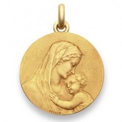 Médaille baptême Vierge maternité - Or