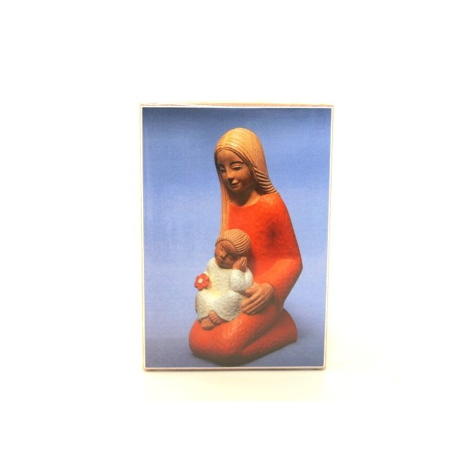 Icone Vierge à l'enfant à genou