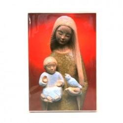 Icone Vierge debout à l'enfant et la colombe Yves le Pape
