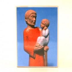 Icone Saint Joseph à l'enfant Yves le Pape