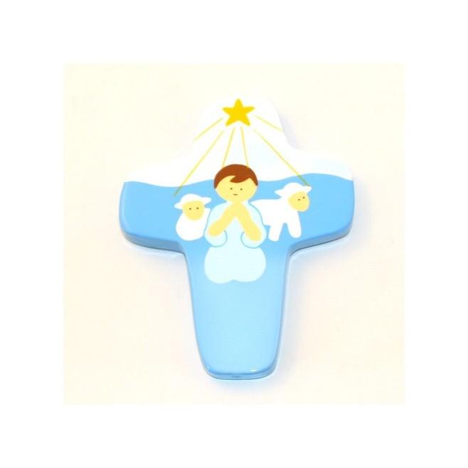 Petite croix Enfants du monde jaune