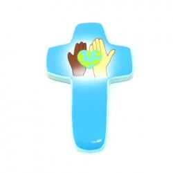 Croix Espoir bleu