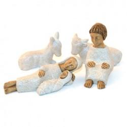 Crèche Soeurs de Bethleem - Nativité 5 santons