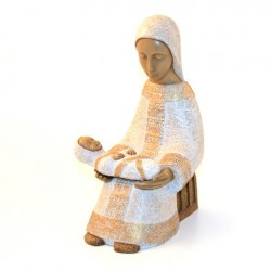 Grande Crèche de Bethleem - Vierge blanche + Jesus