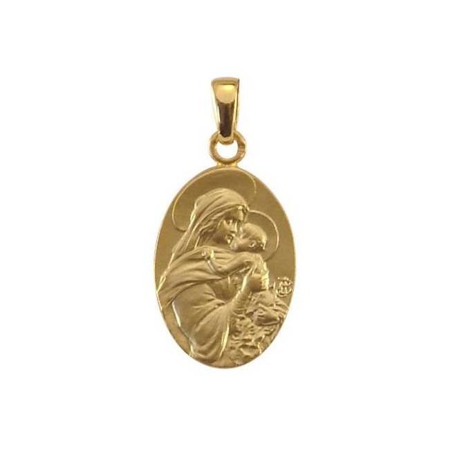 Médaille Vierge au baiser - Or