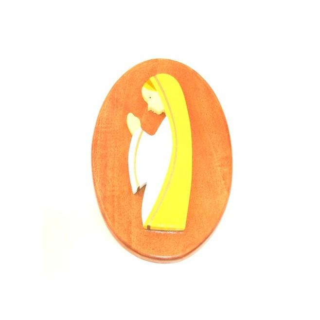 Plaquette Murale de la Vierge en bois