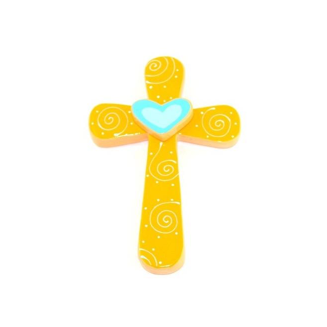 Croix Coeur bleu