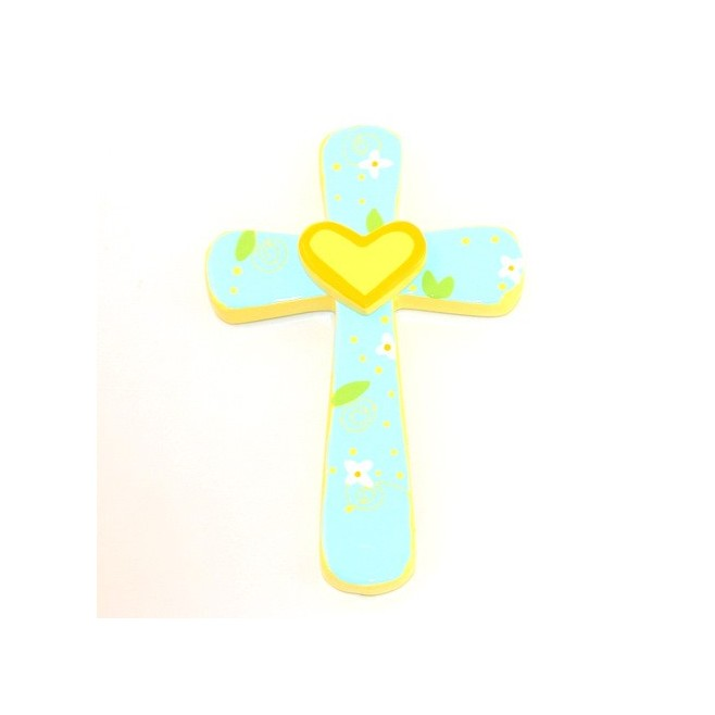 Croix Coeur Jaune