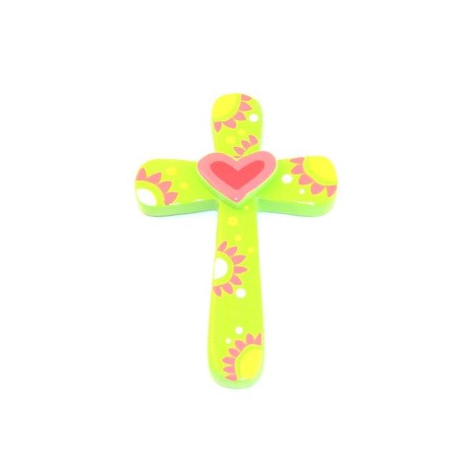 Croix Coeur Rose