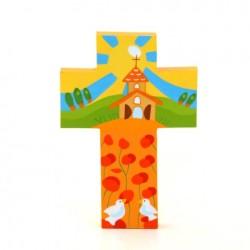 Croix Champs de coquelicots