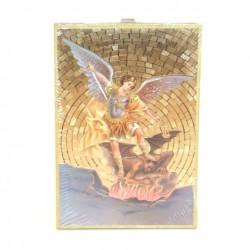 Icone religieuse dorée Saint Michel