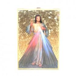 Icone religieuse dorée du Christ Miséricordieux