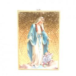 Icone religieuse dorée Vierge Miraculeuse