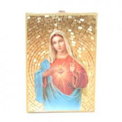 Icone religieuse dorée du Sacré Coeur de Marie