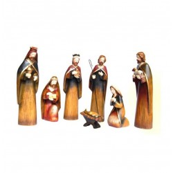 Crèche de Noël Sainte Nuit - 8 santons