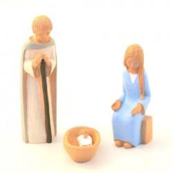 Crèche de Noël Yves le Pape - 3 sujets