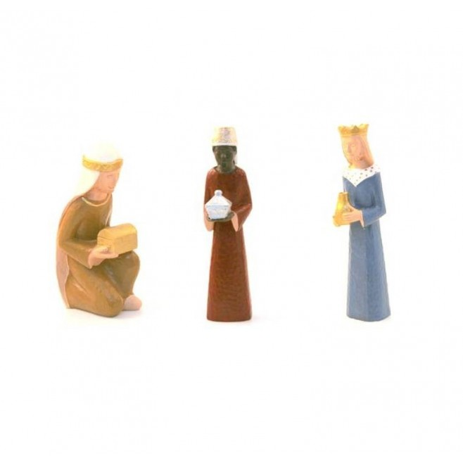 Crèche Yves le Pape - 3 rois mages