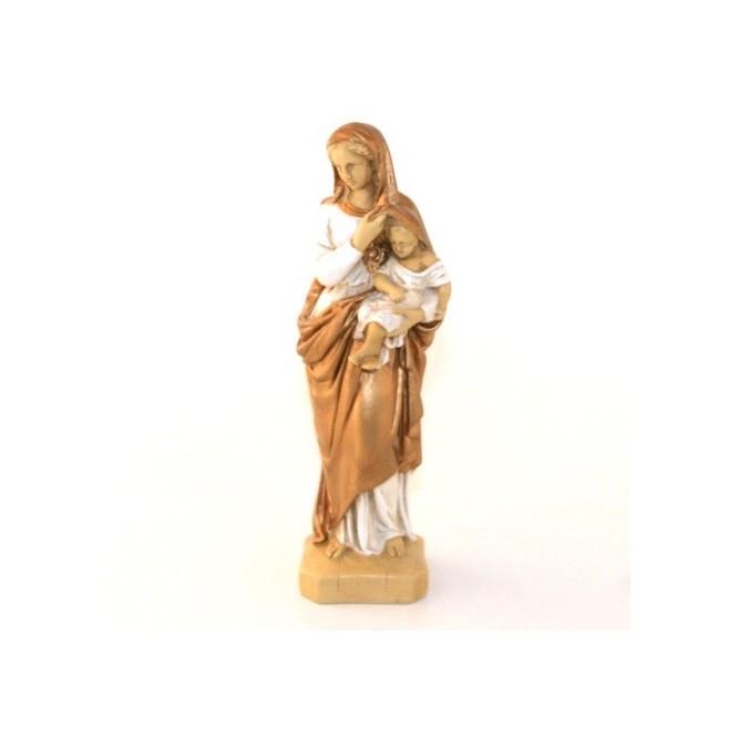 Statue religieuse - Vierge protectrice dorée