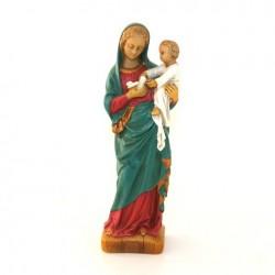 Statue religieuse - Vierge oiseau polychrome