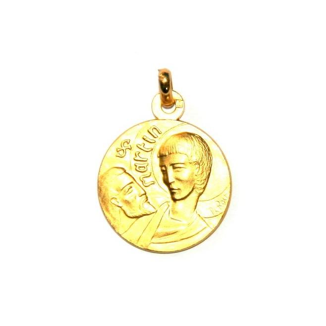 Médaille Saint Martin  - plaqué or