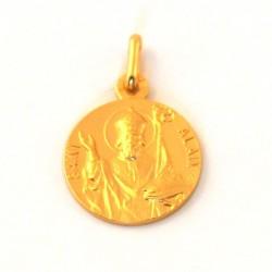 Médaille Saint Alain - plaqué or